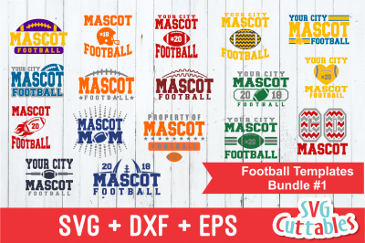 Football SVG Template Bundle 1