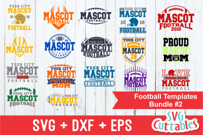 Football SVG Template Bundle 2