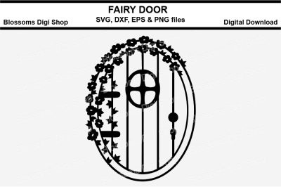 Fairy Door cut file, SVG, EPS, DXF and PNG files