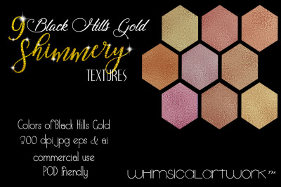 Black Hills Gold Shimmery Textures