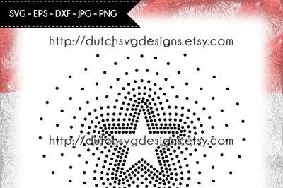 Hotfix rhinestone star pattern (SS16), rhinestone template