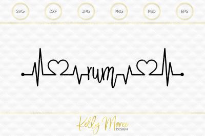 Rum Heartbeat SVG File | Cut File | Silhouette Cameo | Cricut