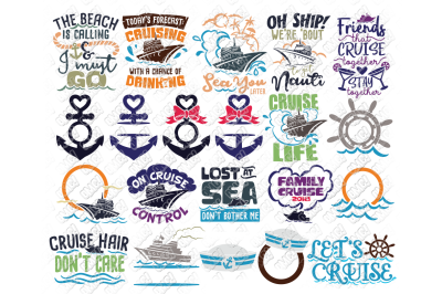 Cruise SVG Bundle Ship in SVG/DXF/PNG/JPEG/EPS