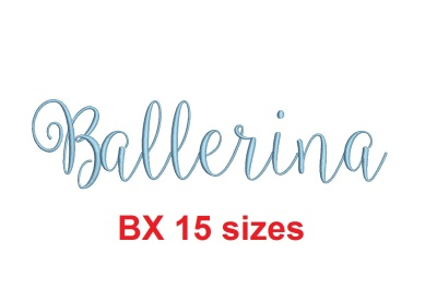 Ballerina BX embroidery font