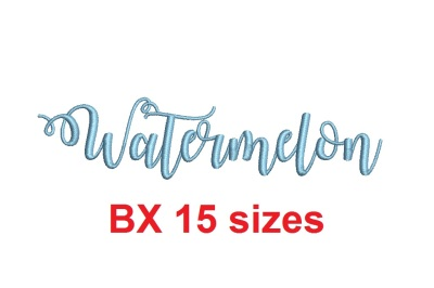 Watermelon BX embroidery font