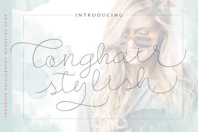 LonghairStylish - Monoline Script Font