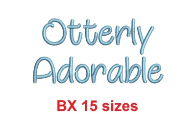 Otterly Adorable BX embroidery font (MHA)