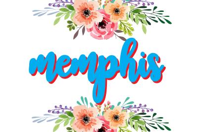 memphis- cool elegant font