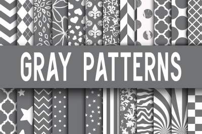 Gray Patterns Digital Paper