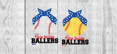 Busy Raising Ballers SVG/DXF/EPS/PNG set