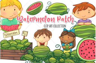 Watermelon Patch Clip Art