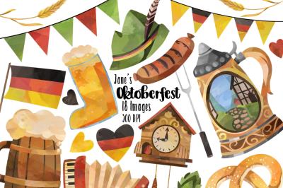 Watercolor Oktoberfest Clipart