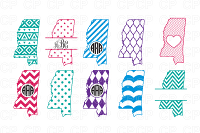 Mississippi State Bundle SVG Cut Files, Mississipp Clipart