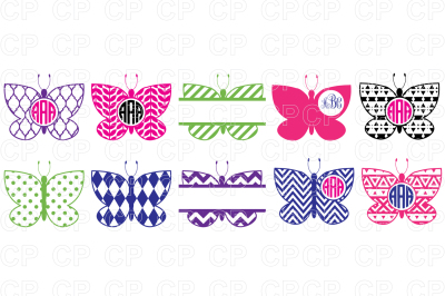 Butterfly Bundle SVG Cut Files, Butterfly Clipart