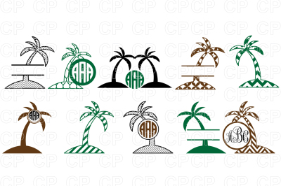 Palm Tree Bundle SVG Cut Files, Palm Tree Clipart