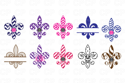 Mardi Gras Bundle SVG Cut Files, Fleur De Lis Clipart
