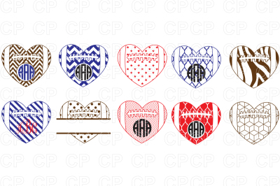 Football Heart Bundle SVG Cut Files, Football Clipart