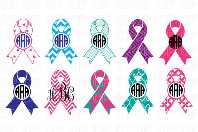 Cancer Ribbons Bundle SVG Cut Files, Cancer Ribbons Clipart