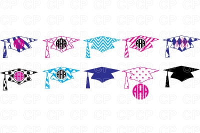 Graduation Bundle Hat SVG Cut Files, Graduation Clipart