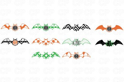 Halloween Bat Bundle SVG Cut Files, Halloween Clipart