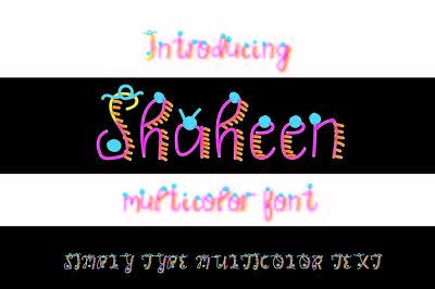 Shaheen: Multicolor font