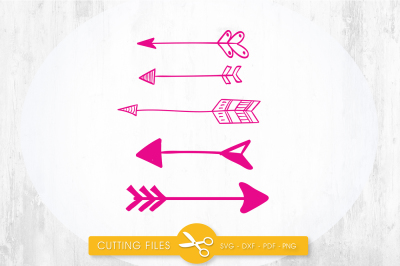 Arrows SVG, PNG, EPS, DXF, cut file