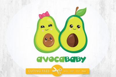 AvocaBaby  SVG, PNG, EPS, DXF, cut file