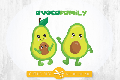 AvocaFamily SVG, PNG, EPS, DXF, cut file