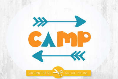 Camp SVG, PNG, EPS, DXF, cut file