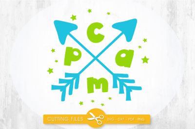 Camp arrow SVG, PNG, EPS, DXF, cut file