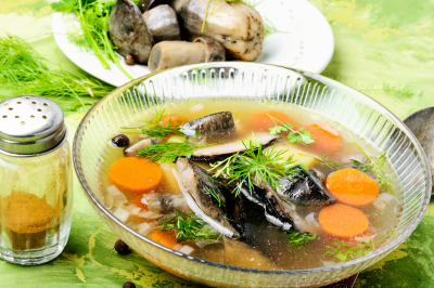 Soup with porcini mushroom
