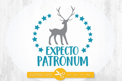 Expecto Patronum SVG, PNG, EPS, DXF, cut file