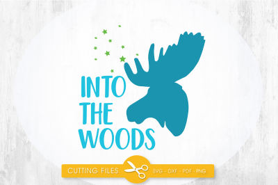 Into the woods SVG, PNG, EPS, DXF, cut file