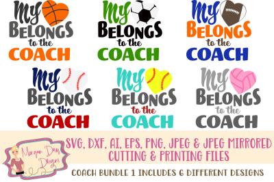 My Heart Belongs to Coach SVG Bundle