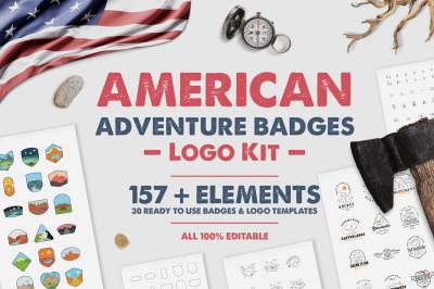 American Adventure Badges Logo Kit