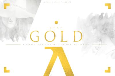 STAY GOLD - Luxurious Alphabet Set