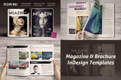 8 InDsgn Magazine Brochure Templates