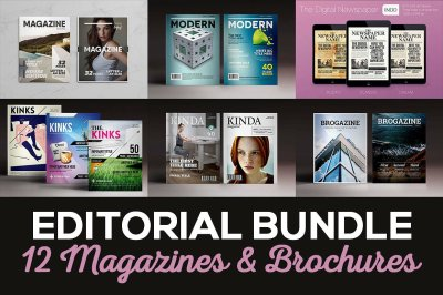 Editorial Bundle Magazines Brochures