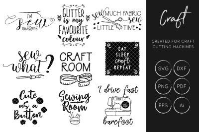 Craft Bundle SVG Cut File, Sewing SVG Cut files