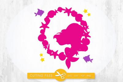 Mermaid wreath SVG, PNG, EPS, DXF, cut file