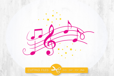 Music notes SVG, PNG, EPS, DXF, cut file