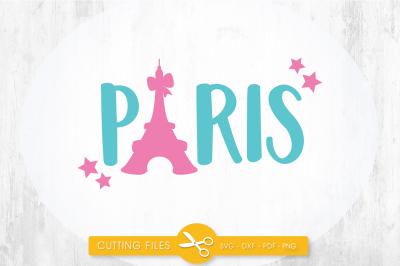 Paris SVG, PNG, EPS, DXF, cut file