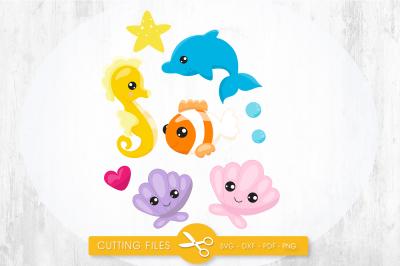 Ocean friends SVG, PNG, EPS, DXF, cut file