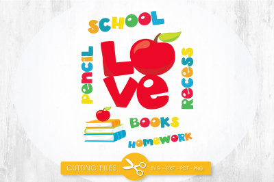 School titles SVG, PNG, EPS, DXF, cut file