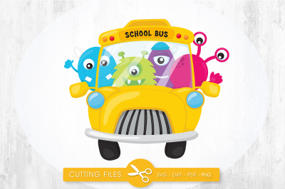 School bus monsters SVG, PNG, EPS, DXF, cut file