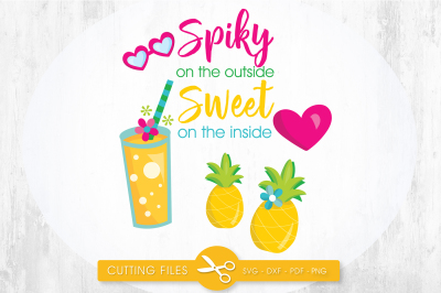 Spiky on the outside sweet on the inside SVG, PNG, EPS, DXF, cut file