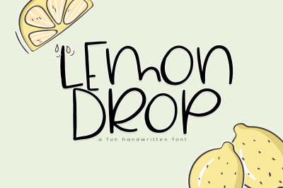 Lemon Drop - A Cute & Quirky Font