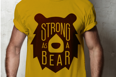 SVG Cut File: Strong as a Bear