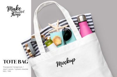 Isolated tote bag mockup #7013