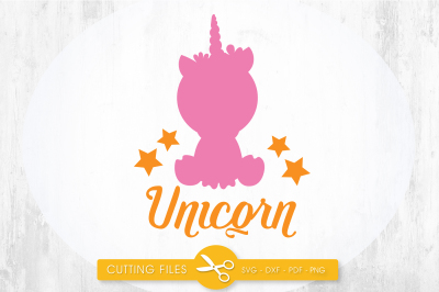Unicorn baby SVG, PNG, EPS, DXF, cut file